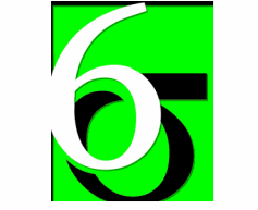 white green black six sigma emblem