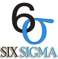 six sigma symbol black and blue