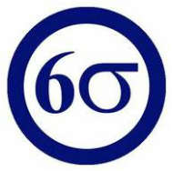 six sigma logo in a blue circle